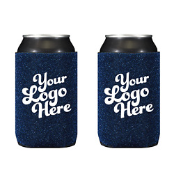 Glitter Can Coolers With 2 Imprint Locations