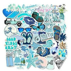 50 PCs Cute sticker VSCO Stickers for Water Bottles and Hydro Flask Blue