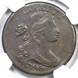 1806 S-270 Ngc Xf 40 Draped Bust Large Cent Coin 1c