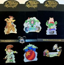 Disney Auctions Toy Story Complete 6-le-100 Oversized Pin Set Only 1 On Ebay