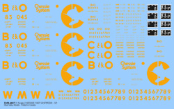 Svm-48cs100tset O Scale Chessie System 100t Hopper Decals Collection - 3 Sets