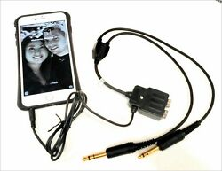 Avcomm 2021 Cellphone Adapter Avcomm Headsets Iphone And Cell Phones W/3.5mm Plug
