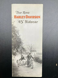 Original Antique Andldquo45andrdquo Harley Brochure Sidecar Fold Out Sales Advertising Book