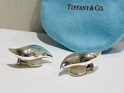 Vintage And Co Elsa Petetti Sun Wave Sterling Silver Earrings..rare