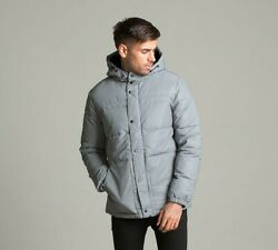 Mens Jack & Jones Core Roger Reflective Grey Quilted Jacket (PA1) RRP £64.99 $39.78