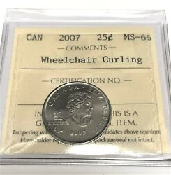2007 25 Cents Wheelchair Curling - Iccs Cw145 Ms66 Ms66 Ms66 Gem