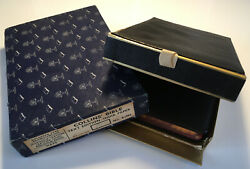 Vintage Rare Holy Bible Morocco Leather Leather Lined Silk Sewn Maps Boxed
