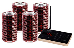 Brand New Pager Genius 40 Restaurant Coaster Pagers Complete Paging System