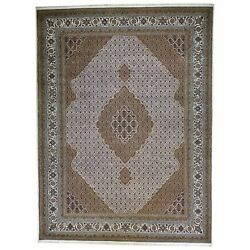Traditional Fine Hand-knotted Wool And Silk Handmade Rug 8.10 X 12.0 Brral-6375