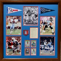 Oilers / Titans Nfl Hof Autograph Collection - Rare, One Of A Kind 32 X 32.5 In