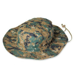 New Usmc Boonie Covers -andnbspmarine Boonie Hats - Marpat Woodland -size Large- Usa