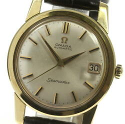 Omega K18yg Seamaster Date Antique Cal.562 Silver Dial Automatic Menand039s_536835