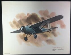 Nixon Galloway United Airlines Collector Series Breese 5 Monoplane 8.5 X 11