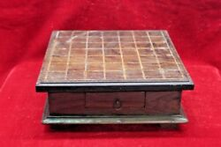 Wooden Game Tray Box Old Vintage Indian Handmade Unique Collectible Bf-77