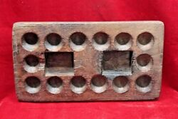 Wooden Egg Tray Game Old Vintage Indian Handmade Unique Collectible Bf-76
