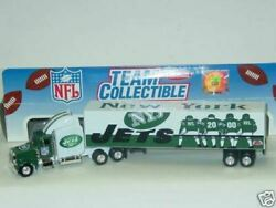 New 2000 Nfl New York Jets Diecast Tractor Trailer 180 Scale White Rose