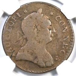 1788 5-b.2 R-5 Ngc Vg Details Connecticut Colonial Copper Coin