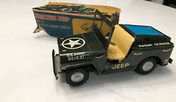 Intake Namura Tin Friction Army Jeep Toy With Battery Operates Radar Screen