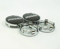 4 Pcs Ray Style 60mm/54mm Japan Fr-s 86 Weds Msw Chrome Racing Wheel Center Caps