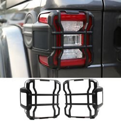 Black Rear Tail Light Lamp Guard Cover Trim Protect For Jeep Wrangler Jl 2018+