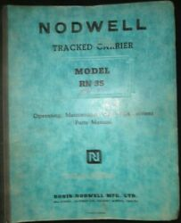 Robin - Nodwell Model Rn 35 Tracked Carrier Snowmobile Truck Tractor Manual Book
