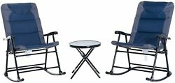 Portable Rocking Chairs And Table Set Folding Camping Backyard Camp Furniture Us