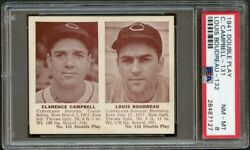 1941 Double Play 131 Clarence Campbell And Louis Boudreau Indians Psa 8 28487127