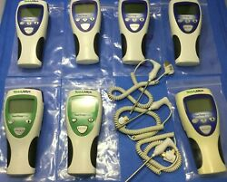 Lot Of 7 Welch Allyn Digital Thermometers 690 692 And Probes - Parts Or Repair Kp