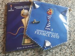 Fifa Women's World Cup 2019 France Pennant + Off Programm + Pin