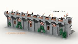 Modular Castle Wall for Lego CUSTOM INSTRUCTIONS ONLY PDF FILE ONLY