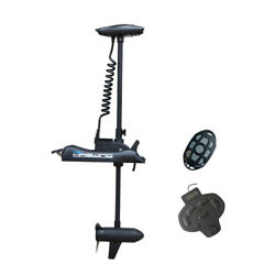 Black Haswing 12v 55lbs 54andrdquo Electric Bow Mount Trolling Motor With Foot Control