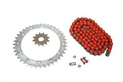 Yamaha Raptor 660 2001-2005 Red O-ring Chain And 14/40 Sprocket Set - More Speed