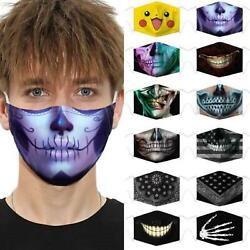 New Unisex 3D Printed Fashion Cloth Mouth Face Mask Cover Washable Reusable Mask $8.17