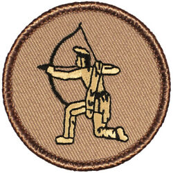 Brave Hunter Patrol Patch - 2 Round Embroidered Patch