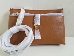 NWT Michael Kors Large Snap Pocket Crossbody Acorn $94.99