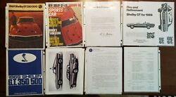 Rare 1969 Shelby Gt-350/500 Press And Dealer Ad Kits Brochure Ads Car Review