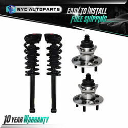 2x Rear Strut And Spring + 2x Rear Wheel Hub Bearing For 1995-2005 Chevy Cavalier
