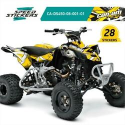 Can-am Ds450 All Years Unique Graphics Kit Decals Stickers +gift