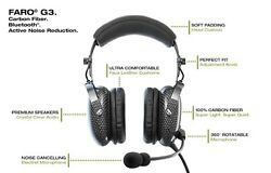 Faro G3 Anr Carbon Fiber Ultra Lightweight 9 Oz Stereo Headset With Bluetooth