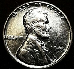 1943 P D And S Struck Through Debris, Ddr, Ddo. Lincoln Wheat Penny