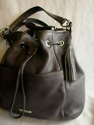 COACH Avery Leather Drawstring Bucket Handbag F27003 Authentic $63.25