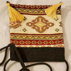 ZIPPER PURSE with Tassels and Handle Decorative Pouch Bag 8 x 7 Inches $8.95