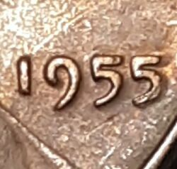 1955 Poor Man Double Die Lincoln Wheat Cent