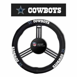 Dallas Cowboys Steering Wheel Cover Leather Style [free Shipping]free Shipping