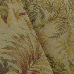 Beige Green Designer Palm Tapestry Home Decorating Fabric Fabric By The Yard