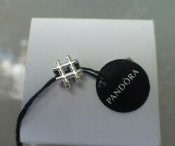 New W/ Tag Authentic Pandora Hashtag Charm 798128 Free Gift Pouch