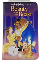 Beauty And The Beast Disney Black Diamond Classic Vhs First Print Dated 05-22-92