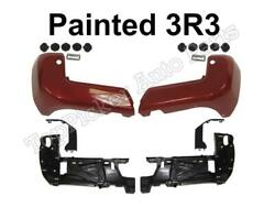 Rear Bumper 3r3 Red End Insert Corner Cover Support 8pc For Tacoma 16-20 W/ Hole