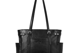 Laptop Totes for Women Genuine Leather Briefcase Large Ladies Shoulder Bag Wo... $116.90