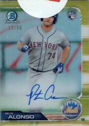 Mlb Card 2019 Pete Alonso Topps Bowman Chrome Rookie Auto Gold Refractors 17/50